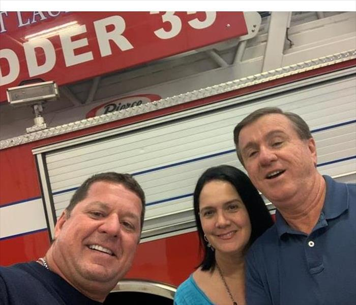Owners of Servpro of Sunrise visiting Fire Rescue Station in Fort Lauderdale, Florida