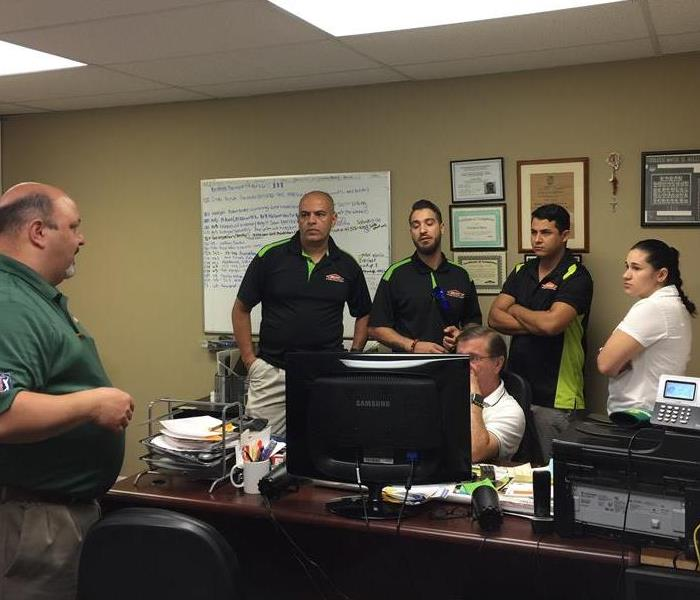 SERVPRO of Sunrise Production meeting