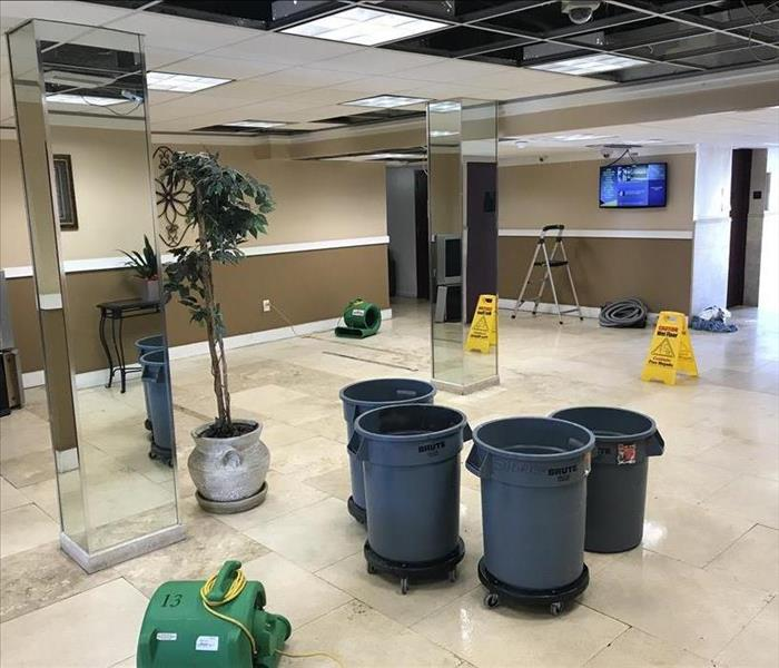 Equipment at a water damage in Lauderhill, FL