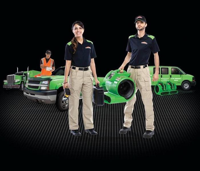 SERVPRO Techs with Green Machines