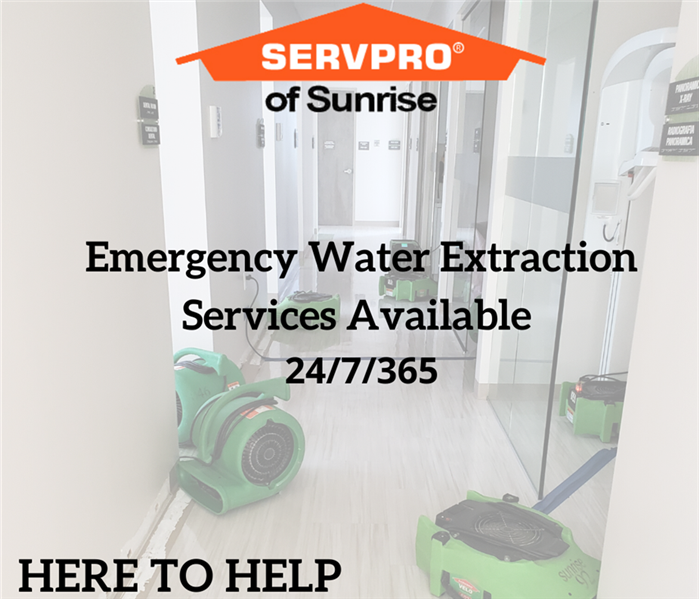 Emergency water extraction services
